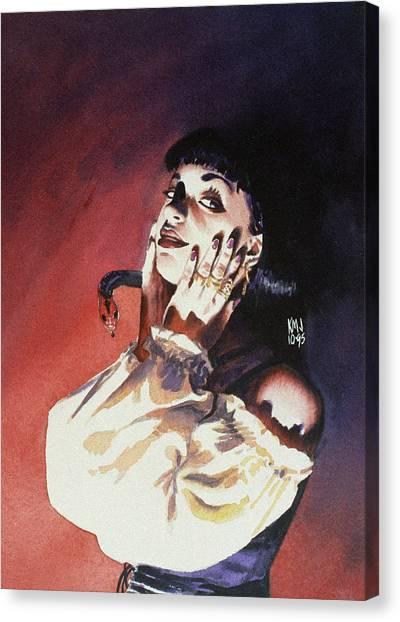 Gothic Art Canvas Print - Set by Ken Meyer