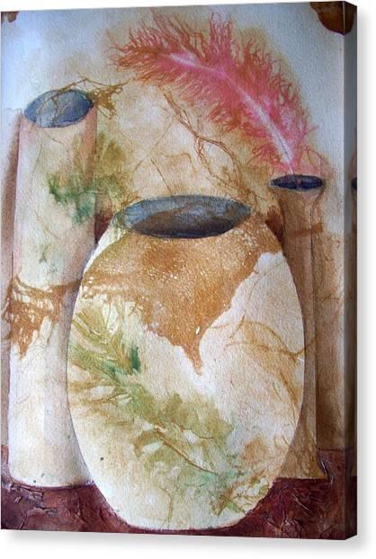 Set Of Vases Canvas Print