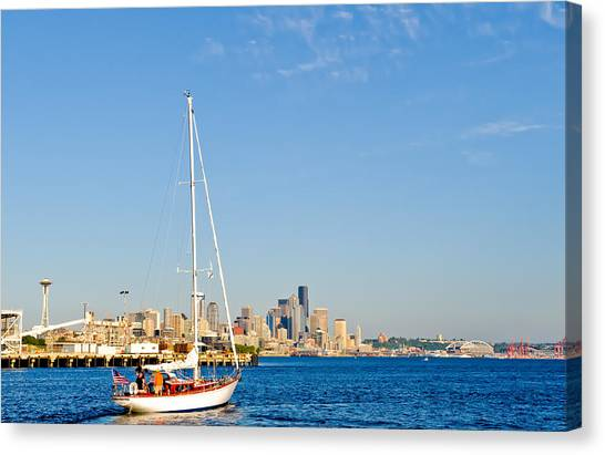 Set Sail Seattle Canvas Print by Tom Dowd