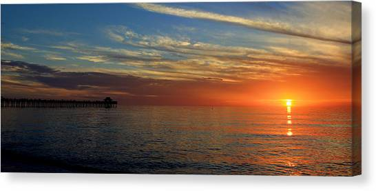 Setting Sun In Naples Canvas Print