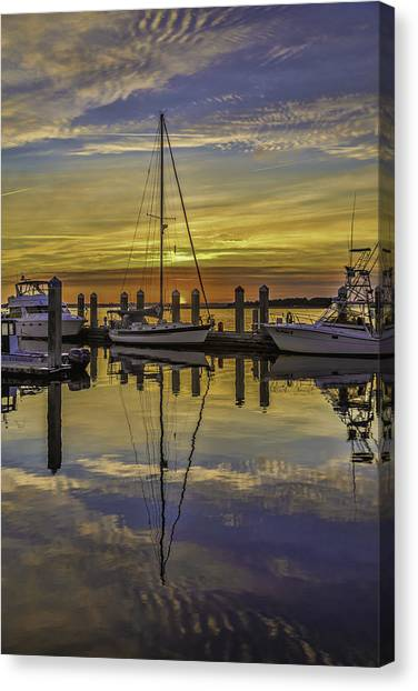 Setting Sun Reflections Canvas Print