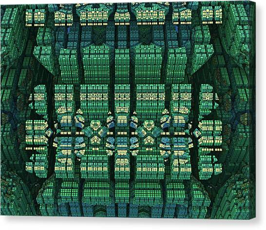 Settlement In Deep Space Canvas Print