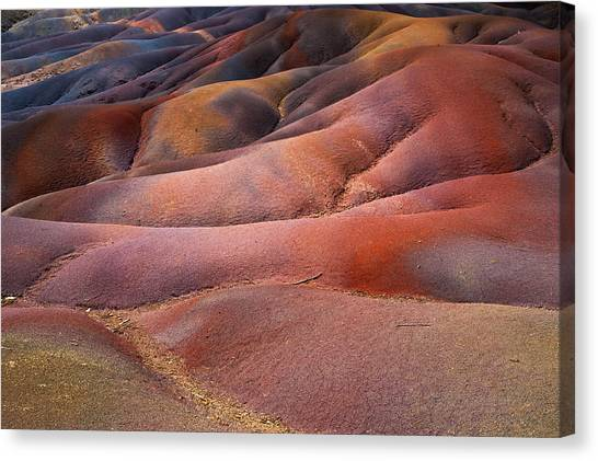Seven Colored Earth In Chamarel 8. Series Earth Bodyscapes. Mauritius Canvas Print