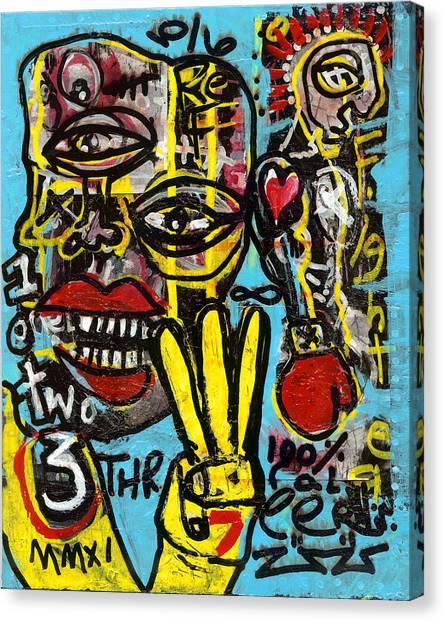Seven Left Canvas Print