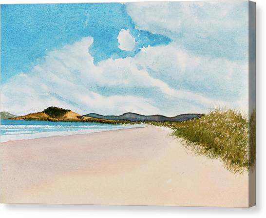 Seven Mile Beach On A Calm, Sunny Day Canvas Print