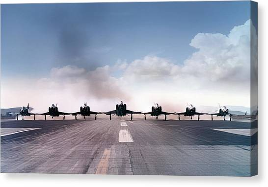Sidewinders Canvas Print - Seven Ship Thunderbirds by Peter Chilelli