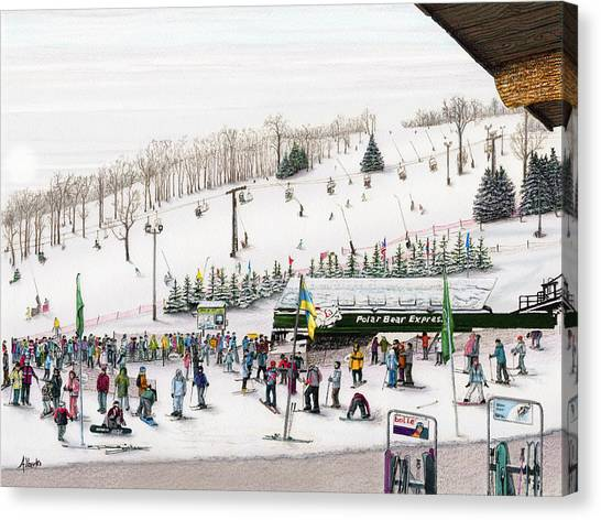 Expressing Canvas Print - Seven Springs Stowe Slope by Albert Puskaric
