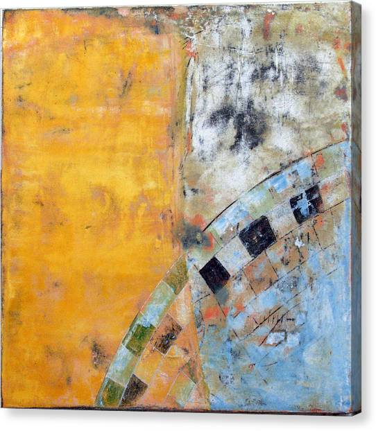 Canvas Print featuring the painting Art Print Seven7 by Harry Gruenert