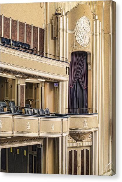 Ohio University Canvas Print - Severance Hall Balconies by Kathleen Nelson