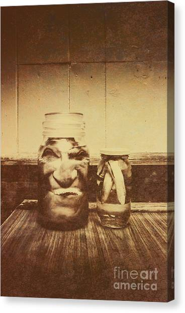 Monsters Canvas Print - Severed And Preserved Head And Hand In Jars by Jorgo Photography - Wall Art Gallery