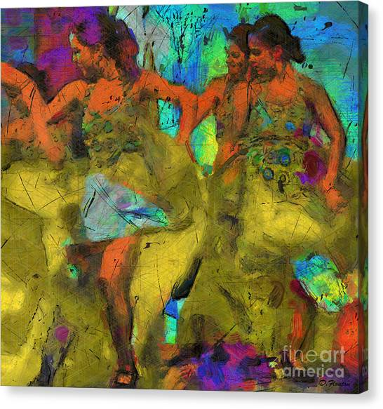 Canvas Print featuring the digital art Sevillanas by Dee Flouton