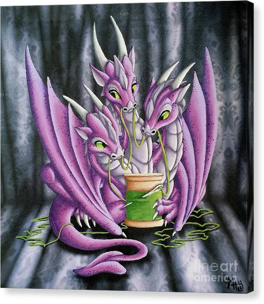 Sewing Dragons Canvas Print
