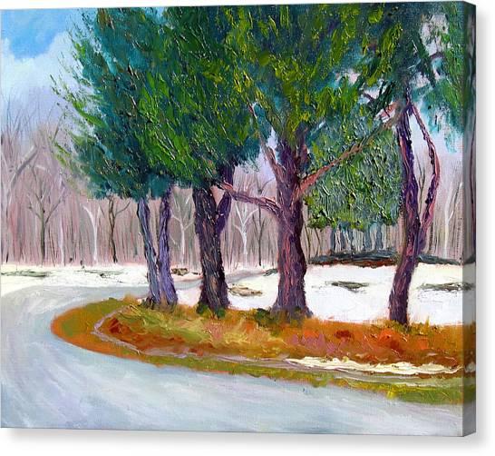Sewp Spring Thaw Canvas Print by Stan Hamilton