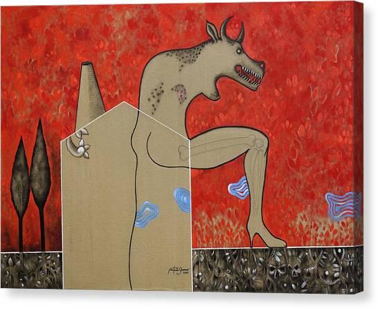 Sex Machine Canvas Print by Antonio Guerrero