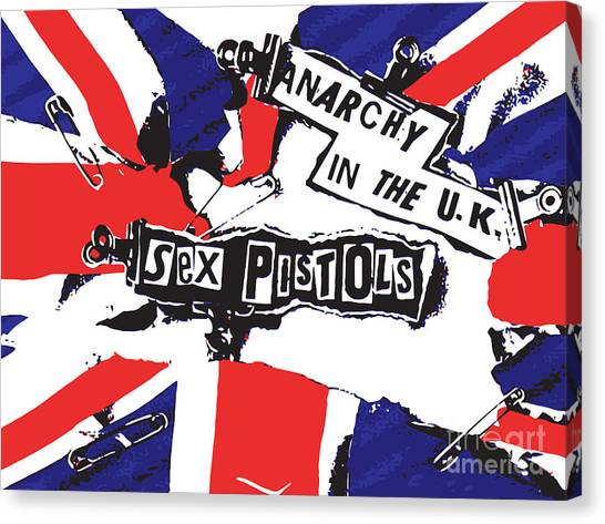 Pistols Canvas Print - Sex Pistols No.02 by Geek N Rock