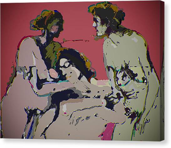 Sexual Anxiety Canvas Print by Noredin MorgaN