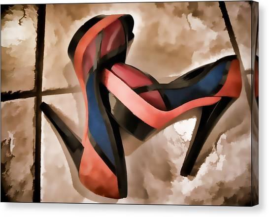 Sexy Orange High Heels Canvas Print