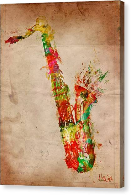 Saxophone Canvas Print - Sexy Saxaphone by Nikki Smith