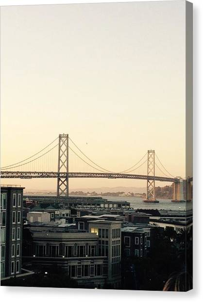 San Francisco Giants Canvas Print - Sf At Dusk by Shane Allen