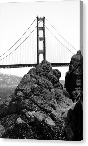 S.f. Rock Canvas Print by Tom Melo