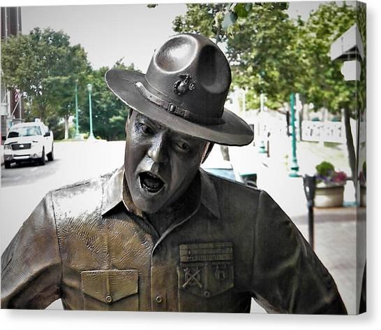 Sgt. Carter Statue In Clarksville, Tn Canvas Print