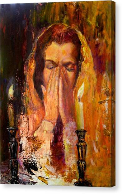 Shabbat's Pray Canvas Print