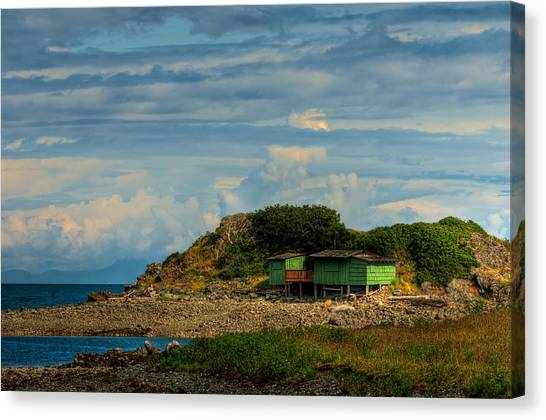 Shack Island Canvas Print by R J Ruppenthal