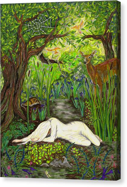 Shade Falls Canvas Print