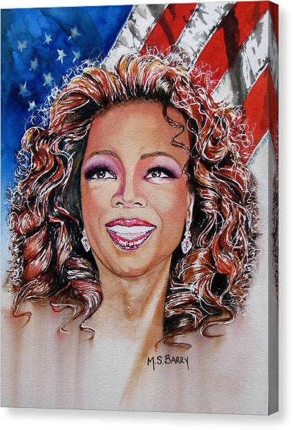 Shades Of Oprah Canvas Print
