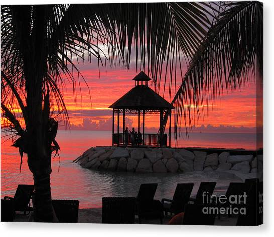 Shades Of Paradise 2 Canvas Print by Addie Hocynec