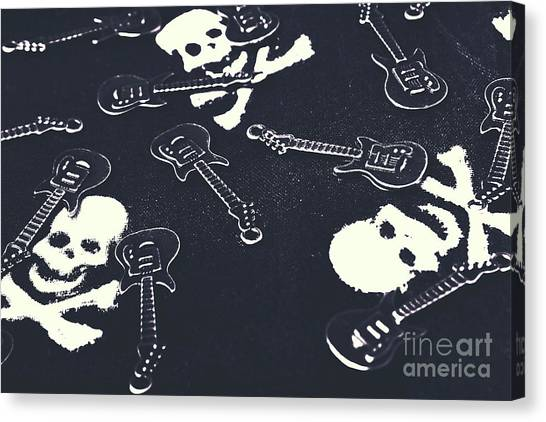 Electric Guitars Canvas Print - Shades Of Pop Punk by Jorgo Photography - Wall Art Gallery