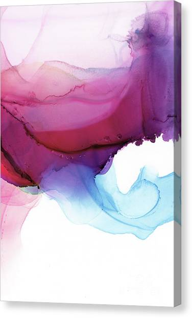 Ink Canvas Print - Shades Of Purple by PrintsProject