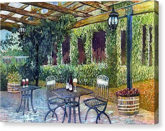 Vine Grapes Canvas Print - Shades Of Van Gogh by Hailey E Herrera