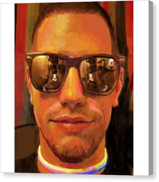 Realism Art Canvas Print - Shades #portrait #frenchgirlsapp by James Garza