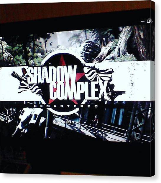 Cyberpunk Canvas Print - shadow Complex Is Free This Month by XPUNKWOLFMANX Jeff Padget