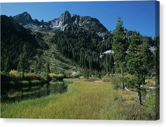 Shadow Creek - Mount Ritter And Reflections Canvas Print