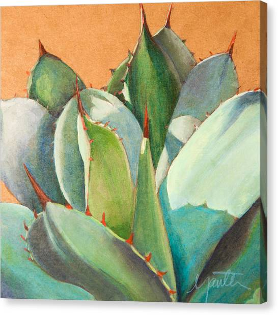 Cactus Canvas Print - Shadow Dance 2 by Athena Mantle