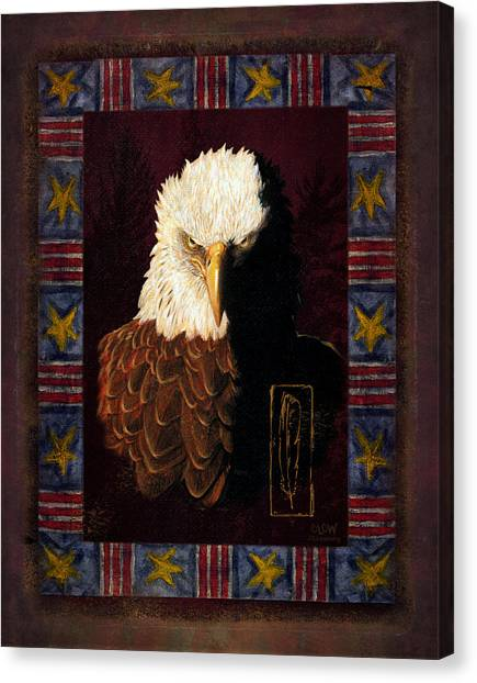 Eagle Canvas Print - Shadow Eagle by JQ Licensing