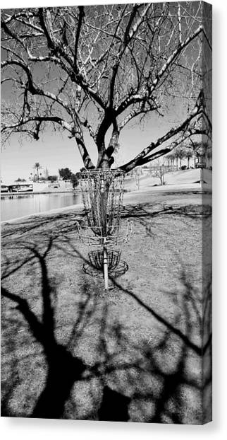 Disc Golf Canvas Print - Shadow Game by Rich Mann