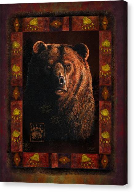 Hunt Canvas Print - Shadow Grizzly by JQ Licensing