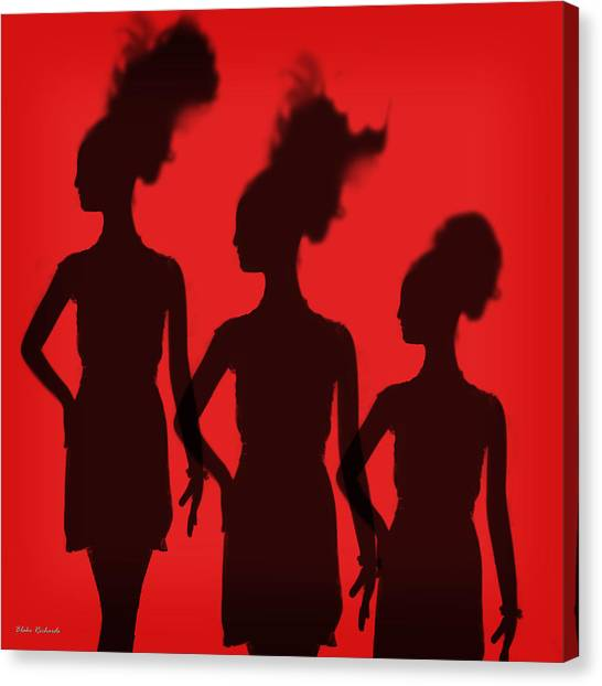 Shadow Of Chic Canvas Print