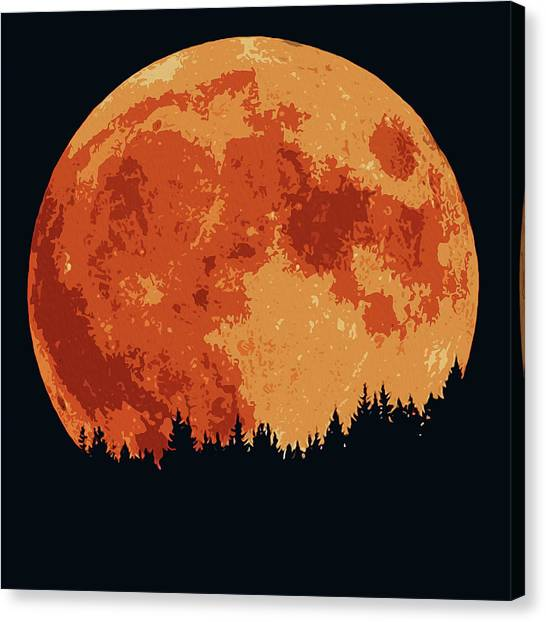 Shadow Of The Moon  Canvas Print