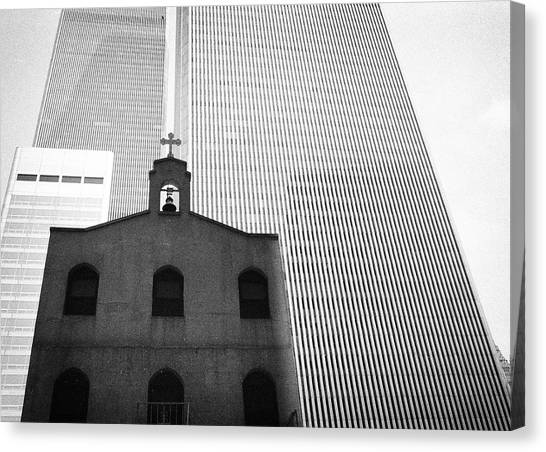 Shadow Of World Trade Center Canvas Print