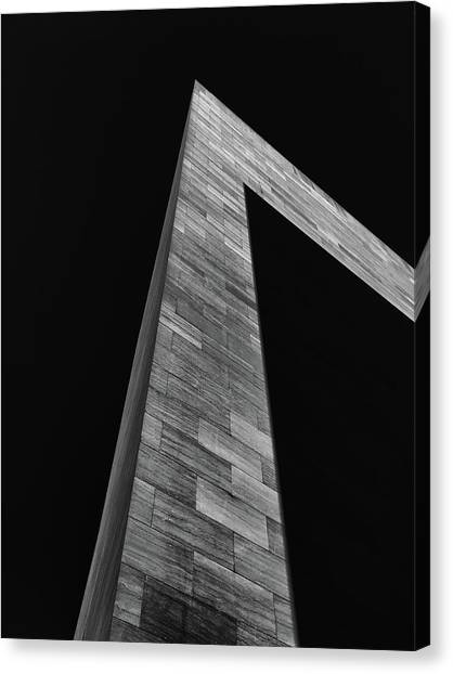 Shadow On The East Wing Canvas Print by Andrew Wohl