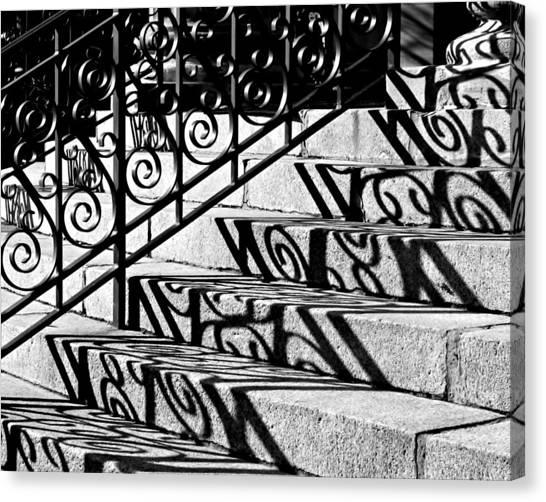 Shadow On The Rotunda Stairs Canvas Print