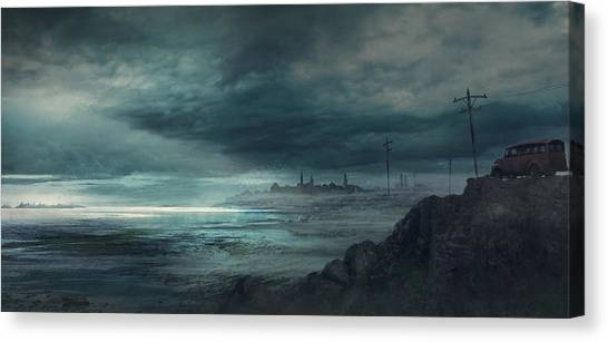 Boston Canvas Print - Shadow Over Innsmouth by Guillem H Pongiluppi