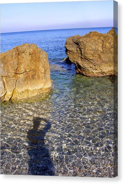 Shadow Pelion Greece Canvas Print