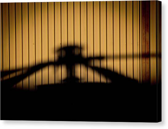 Canvas Print featuring the photograph Shadow Rotor by Paul Job