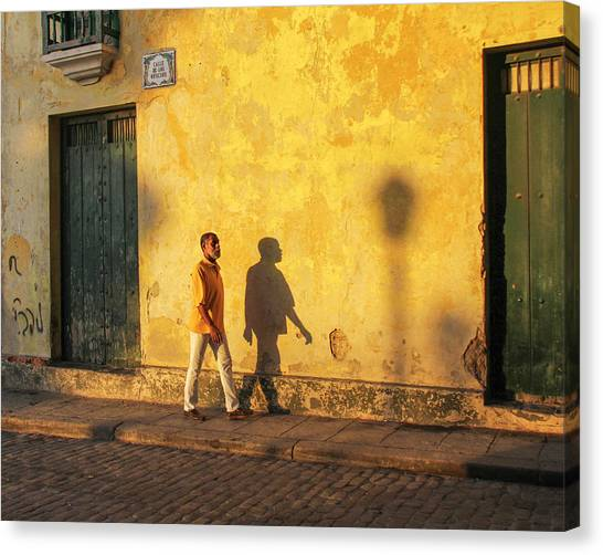 Shadow Walking Canvas Print