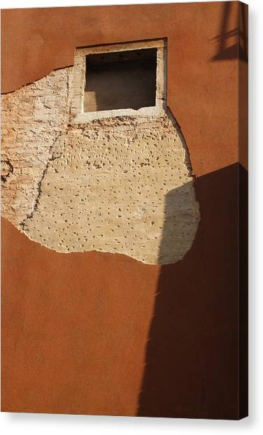 Shadow With Square Window In Venice Canvas Print by Michael Henderson